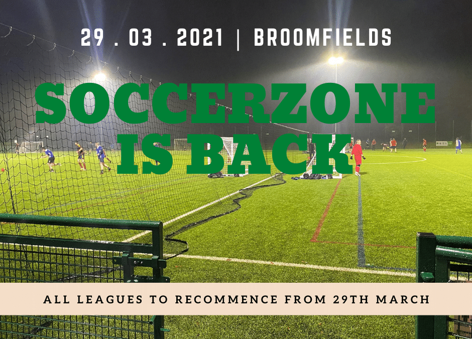 Soccerzone UK is back 29th march!